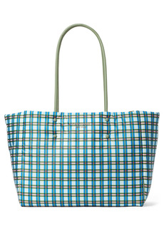 kate spade new york everything large puffy plaid tote