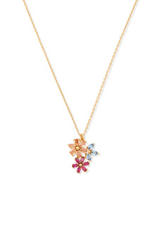 kate spade new york first bloom floral cluster pendant necklace