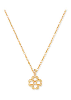 kate spade new york floral mini pendant necklace
