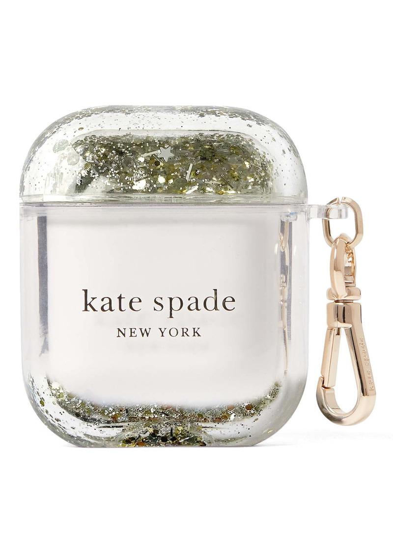 kate spade new york glitter AirPod case