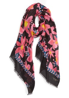 kate spade new york island floral oblong scarf