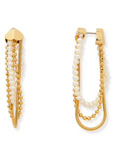 kate spade new york know the ropes mixed chain hoop earrings