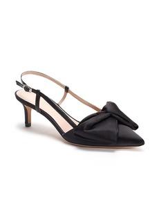 kate spade new york marseille bow pointed toe slingback pump (Women)