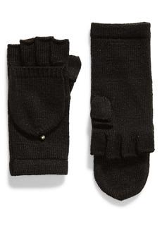 kate spade new york metallic pop top gloves
