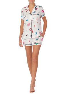 kate spade new york print boxer short pajamas