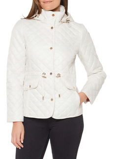 kate spade new york quilted hooded jacket
