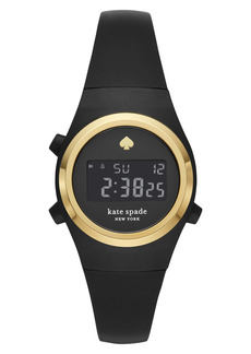 kate spade new york rumsey digital silicone strap watch, 32mm