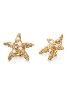 kate spade new york sea star imitation pearl starfish stud earrings