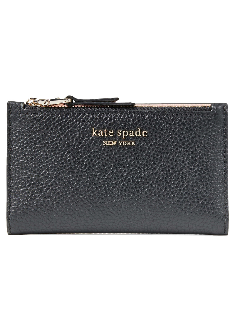 kate spade new york small roulette slim bifold wallet