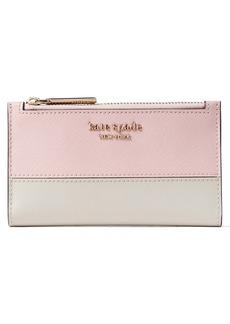 kate spade new york small spencer slim leather bifold wallet