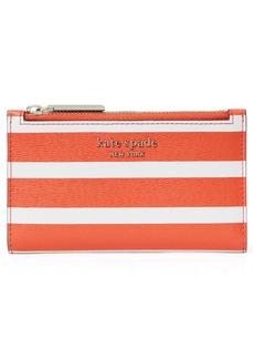 kate spade new york small spencer stripe bifold wallet