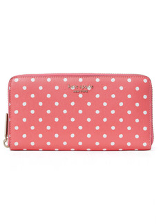 kate spade new york spencer dots continental wallet