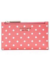 kate spade new york spencer dots slim bifold wallet