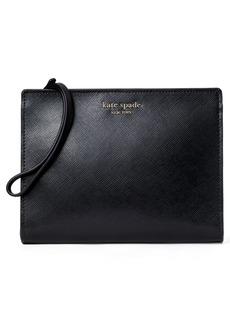 Kate Spade New York Spencer Leather Wristlet - Black