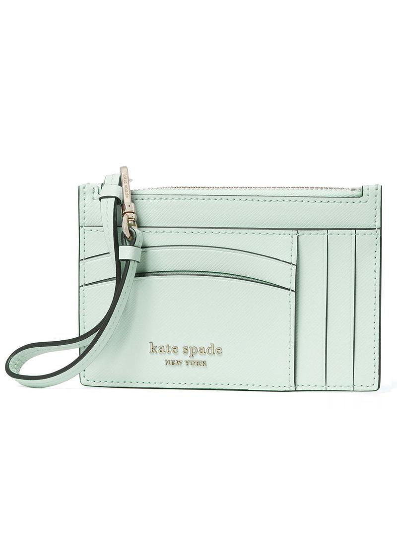 kate spade new york spencer leather wristlet card case