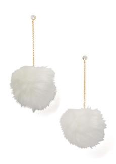 kate spade new york want it faux fur drop earrings