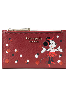 kate spade new york x disney minnie mouse faux leather wallet