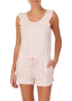 kate spade new york zebra print romper pajamas
