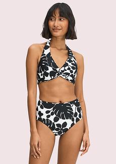 Kate Spade Monstera Grove Knotted Halter Bikini Top