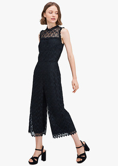 Kate Spade Scallop-Trim Lace Jumpsuit