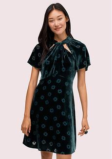 Kate Spade Spade Clover Velvet Dress