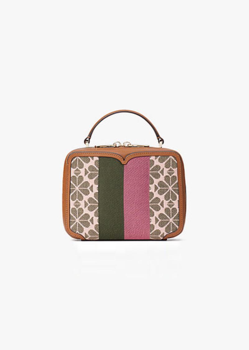 Kate Spade Spade Flower Jacquard Vanity Stripe Mini Top-Handle Bag