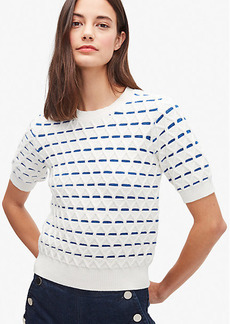 Kate Spade Striped Cable Sweater