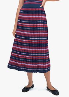 Kate Spade Striped Pleated Skirt