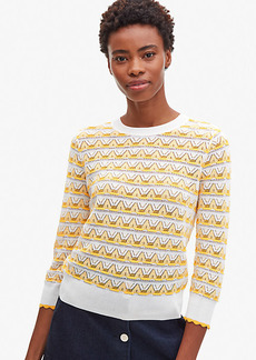 Kate Spade Striped Pointelle Sweater