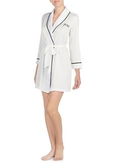 Women's Kate Spade New York Mrs Charmeuse Short Robe