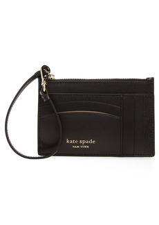 Women's Kate Spade New York Spencer Leather Wristlet Card Case - Black