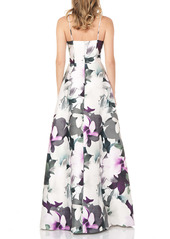 Kay Unger New York Kay Unger Floral Mikado Gown