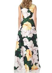 Kay Unger New York Kay Unger Floral Print Maxi Romper