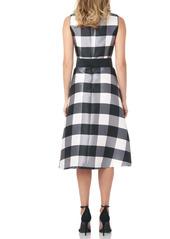 Kay Unger New York Kay Unger Gingham Mikado Cocktail Dress