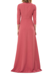 Kay Unger New York Kay Unger Hannah Stretch Crepe A-Line Gown