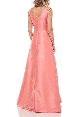 Kay Unger New York Kay Unger Kincaid Ruffle Waist Gown