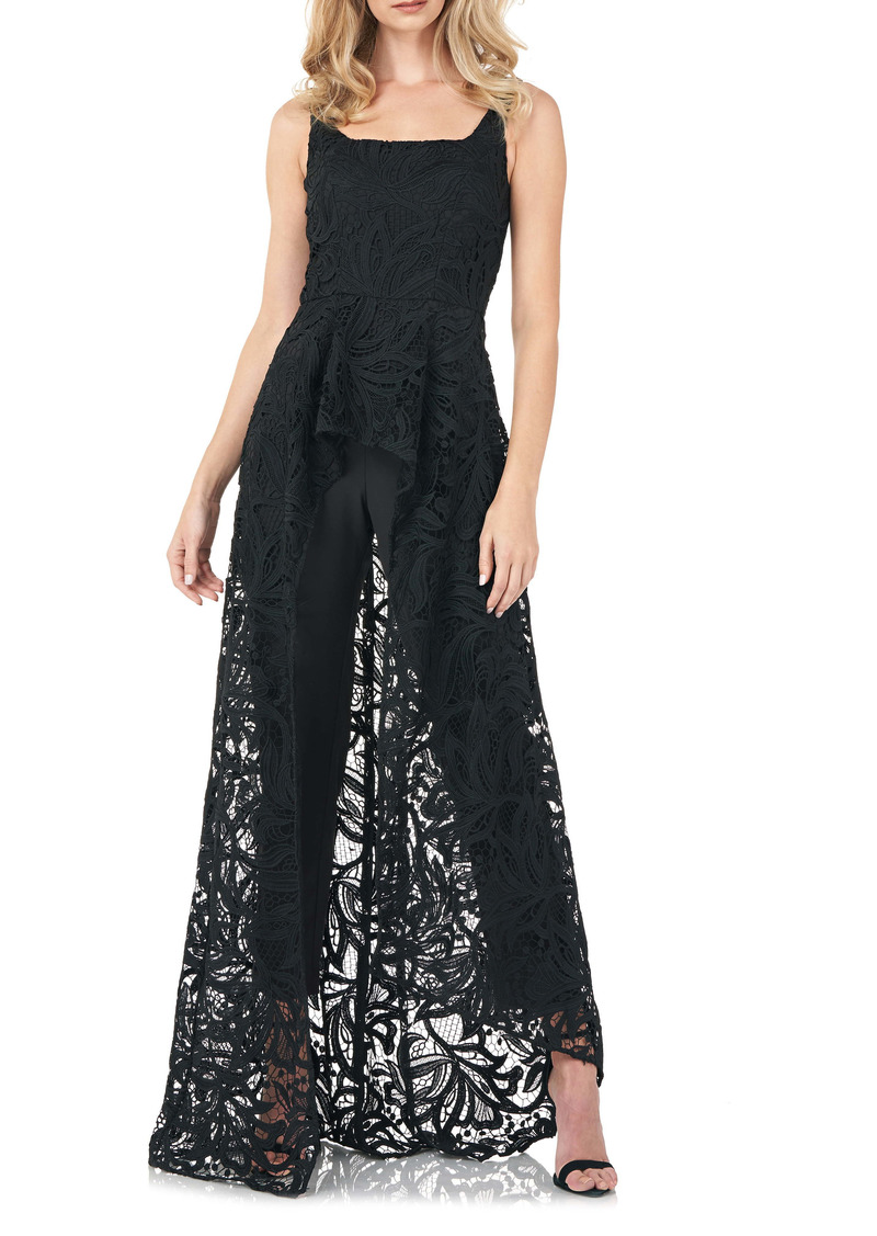 Kay Unger New York Kay Unger Lace Maxi Romper