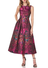 Kay Unger New York Kay Unger Luna Abstract Jacquard Cocktail Dress