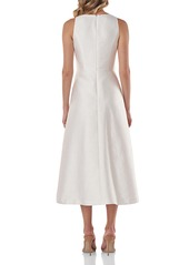Kay Unger New York Kay Unger Maxime Pleat Flare Cocktail Dress