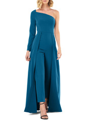 Kay Unger New York Kay Unger One-Sleeve Maxi Romper