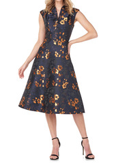 Kay Unger New York Kay Unger Ramona Floral Sleeveless Fit & Flare Dress