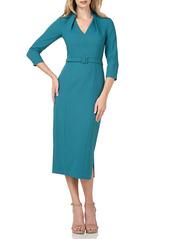 Kay Unger New York Kay Unger Skylar Crepe Midi Cocktail Dress