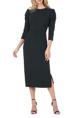 Kay Unger New York Kay Unger Stretch Crepe Midi Dress