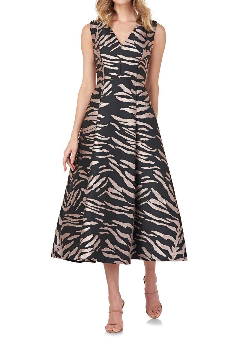 Kay Unger New York Kay Unger Tibby Zebra Cocktail Dress