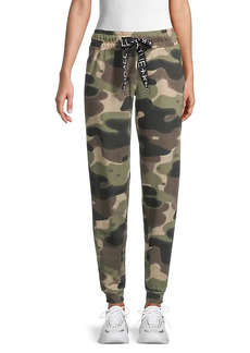 Kendall + Kylie Camo-Print Cotton-Blend Jogger Pants