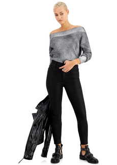 Kendall + Kylie Kendall + Kyle Juniors' Coated High-Rise Skinny Ankle Jeans