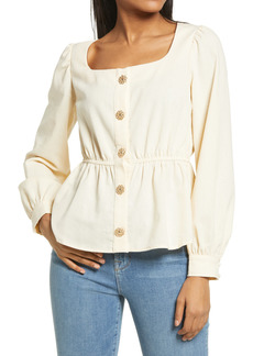 KENDALL + KYLIE Button Front Top