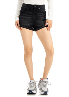 Kendall + Kylie Juniors' Curvy High-Rise Denim Shorts