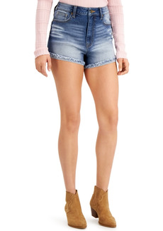 Kendall + Kylie Juniors' Ultra-High-Rise Curvy-Fit Jean Shorts