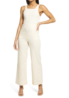 KENDALL + KYLIE Open Back Sleeveless Jumpsuit